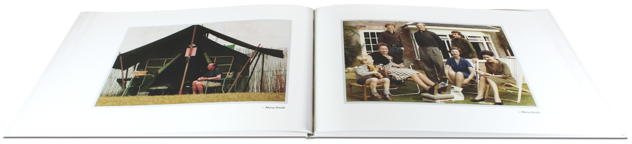 Photographs in Memorial Book